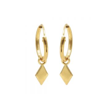Hoops Symbols Diamond Shape Goldplated
