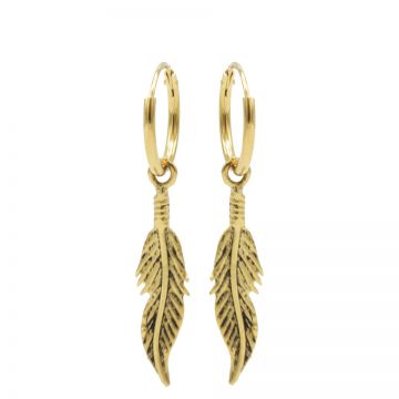 Hoops Symbols Feather III Goldplated