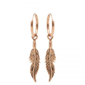 Hoops Symbols Feather III Roseplated
