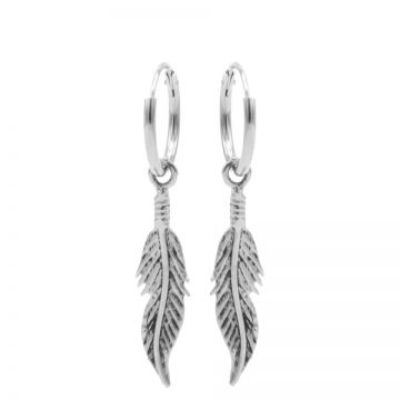Hoops Symbols Feather III Silver