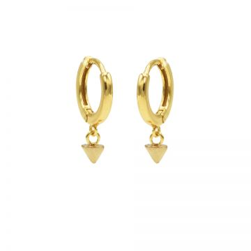 Hinged Hoops Mini Round Cone Goldplated