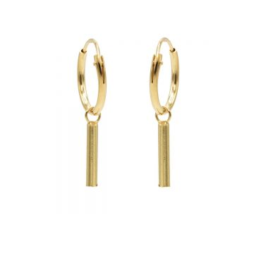 Hoops Symbols Round Tube Goldplated