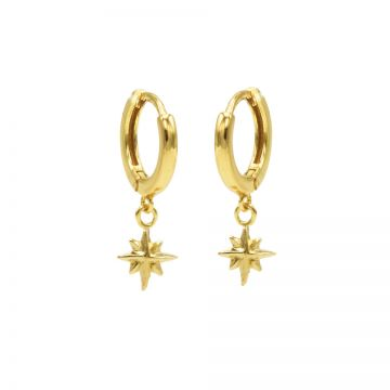 Hinged Hoops Symbols Morningstar Goldplated