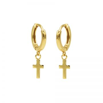 Hinged Hoops Faith Goldplated