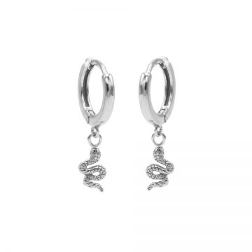 Hinged Hoops Snake Silver