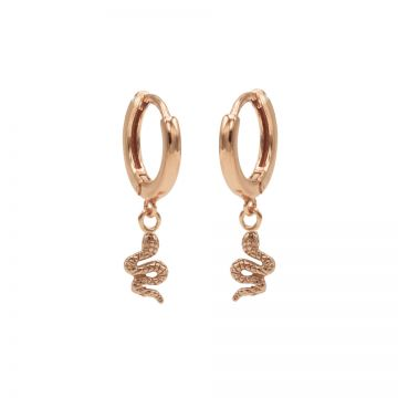 Hinged Hoops Snake Roseplated