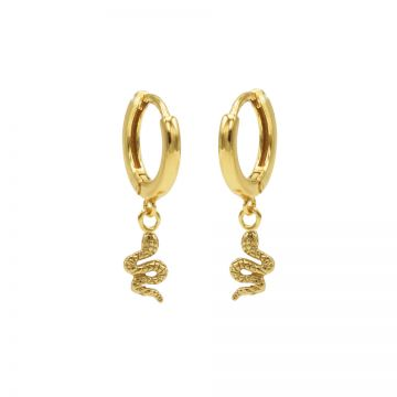 Hinged Hoops Snake Goldplated