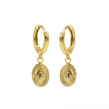 Hinged Hoops Maria Goldplated