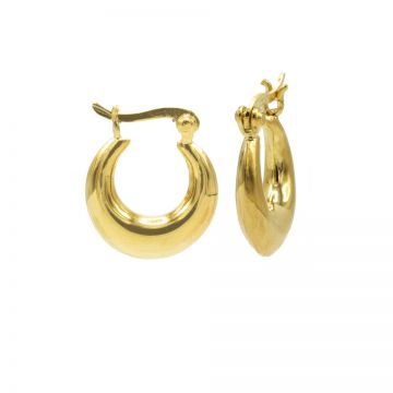 Plain Drop Hoops Goldplated SMALL 14MM