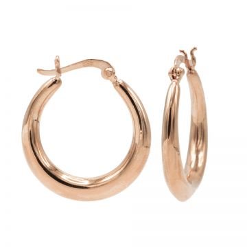 Plain Drop Hoops Roseplated LARGE 24MM