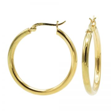Plain Tube Hoops Goldplated LARGE 29MM