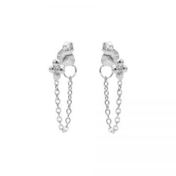 Chain 4 Dots Silver