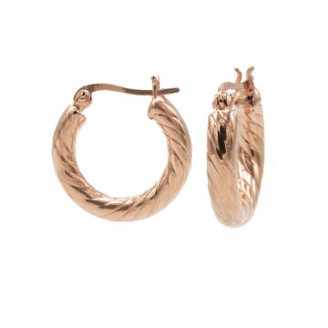 Plain Twister Hoops Roseplated SMALL