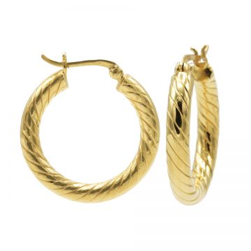 Plain Twister Hoops Goldplated MEDIUM