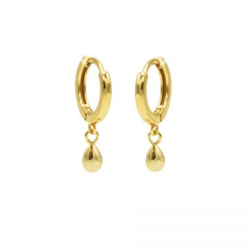 Hinged Hoops Drop Goldplated