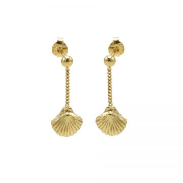 Chainstuds Shell Goldplated
