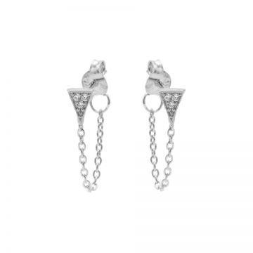 Chain Zirconia Triangle Silver