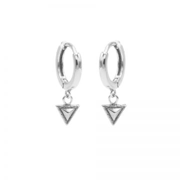 Hinged Hoops Tiny Triangle Silver