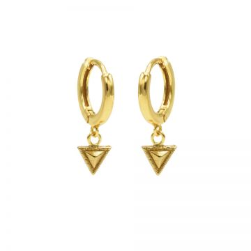 Hinged Hoops Tiny Triangle Goldplated