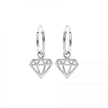 Hoops Symbols Diamond Silver