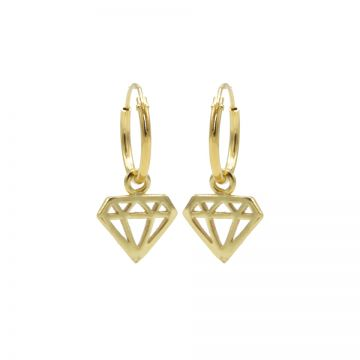 Hoops Symbols Diamond Goldplated