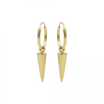 Hoops Symbols Long Round Cone Goldplated