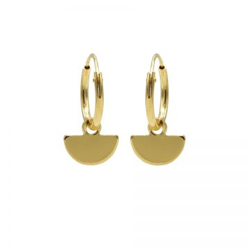 Hoops Symbols Half Disc Goldplated