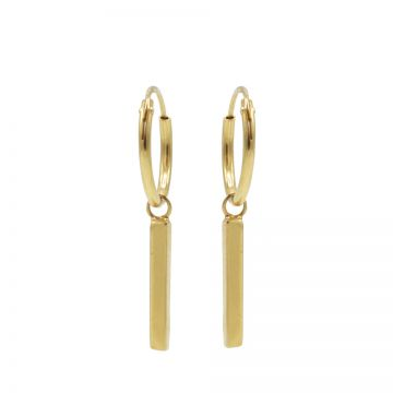 Hoops Symbols Long Round Tube Goldplated