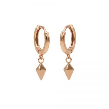Hinged Hoops Square Cone Roseplated