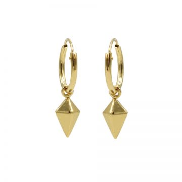 Hoops Symbols Square Cone Goldplated