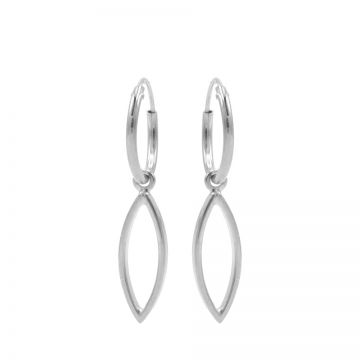 Hoops Symbols Open Pointed Oval Silver