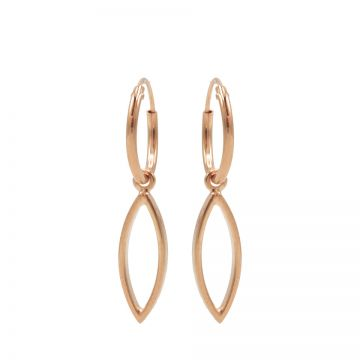 Hoops Symbols Open Pointed Oval Roseplated