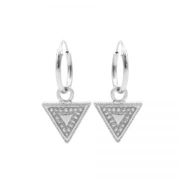 Hoops Symbols Dots Line Triangle Silver