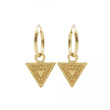 Hoops Symbols Dots Line Triangle Goldplated