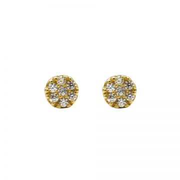 Karma Zirconia Symbols Disc Goldplated