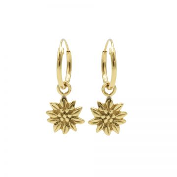 Hoops Symbols Sunflower Goldplated
