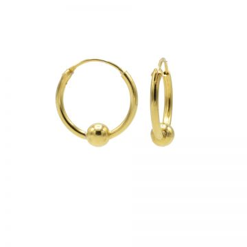 Hoops Symbols Single Dot Goldplated
