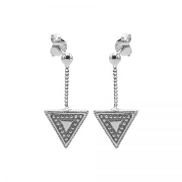 Chainstuds Dots Line Triangle Silver