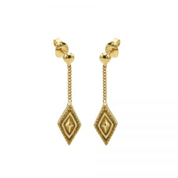 Chainstuds Dots Line Diamond Goldplated