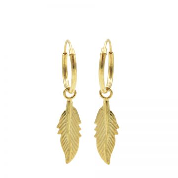 Hoops Symbols Feather II Goldplated