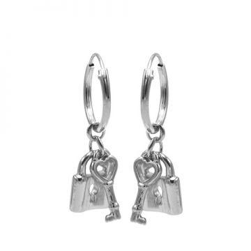Hoops Symbols Key Lock Silver