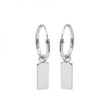 Hoops Symbols Mini Rectangle Silver