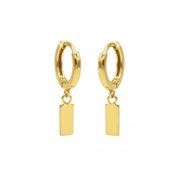 Hinged Hoops Mini Rectangle Goldplated