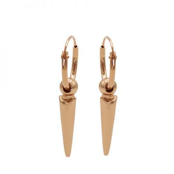 Hoops Symbols Dot Long Cone Roseplated