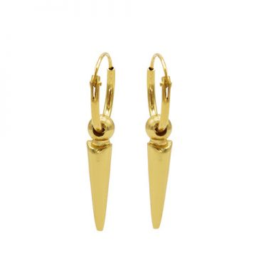 Hoops Symbols Dot Long Cone Goldplated