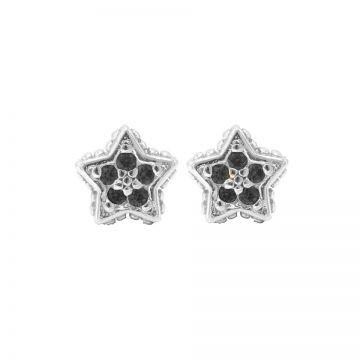 Karma Black Zirconia Symbols Star Silver