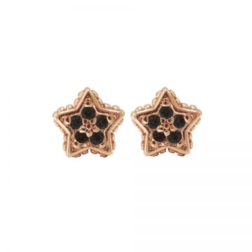 Karma Black Zirconia Symbols Star Roseplated