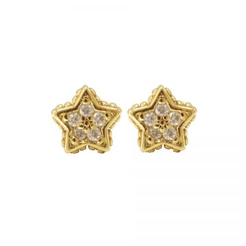 Karma Zirconia Symbols Star Goldplated