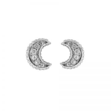 Karma Zirconia Symbols Moon Silver