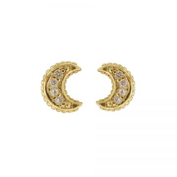 Karma Zirconia Symbols Moon Goldplated